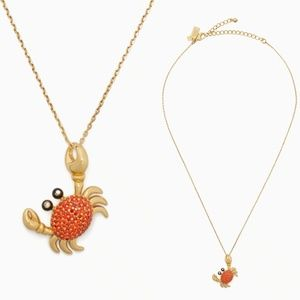 Kate Spade Shore Thing Pave Crab Pendant Necklace